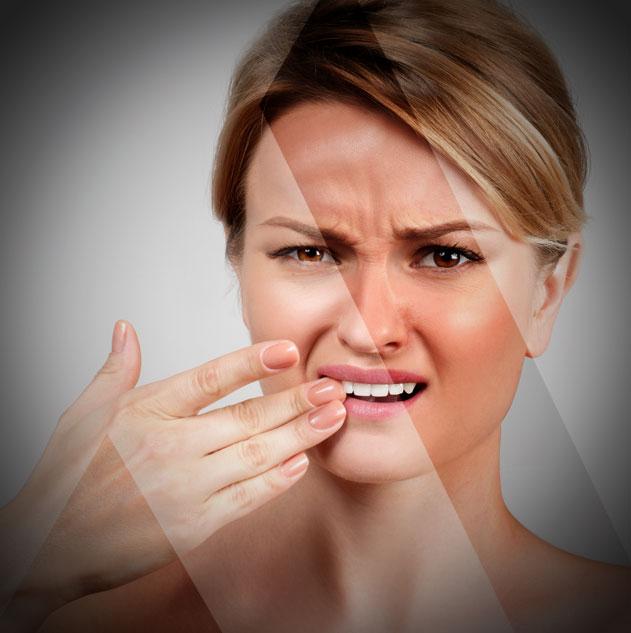 abgeschnittene Zähne